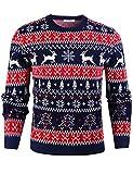 iClosam Men's Christmas Jumpers Unisex Sweater Long Sleeve...