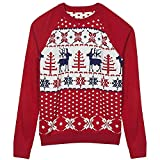 Blueberry Pet Men's Women's Ugly Christmas Reindeer Pullover...