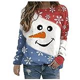 Ladies Christmas Jumper,Funny Graphic Reindeer Xmas Sweatshirt...