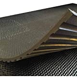 Heavy Duty Large Rubber Gym Mat Commercial Flooring 18mm Garage...