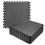 LUVODI Exercise Foam Mat, 12 Pieces Protective Gym Flooring Mat...