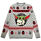 Star Wars The Mandalorian The Child Christmas Men's Knitted...