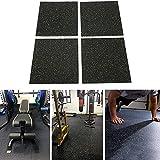 Nisorpa 4pcs Rubber Gym Flooring Tiles Interlocking Heavy Duty...