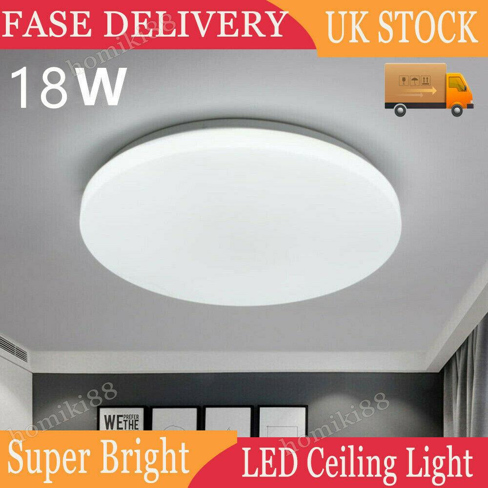 18W LED Ceiling Light Round Panel Lights Bathroom Kitchen Living Room Wall Light