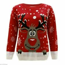 Kids Christmas Jumper Boys Girls Unisex Knitted Novelty Reindeer Xmas Sweater