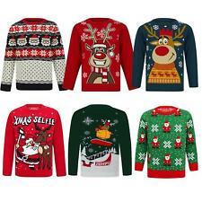 Kids Christmas Jumper Novelty Fun Festive Unisex Sweater Girls Boys Xmas Top