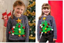 Kids Christmas Jumpers Babies Boys Girls Festive Jumpers Xmas Sweatshirts Top