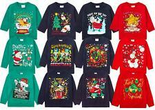 Kids Christmas Jumpers Babies Boys Girls Festive Jumpers Xmas Sweatshirts