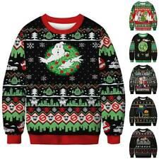 MensLong Sleeve Christmas Rick and Morty Pullover Xmas Sweatshirt Jumper Sweater