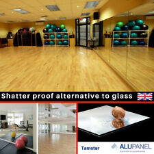 Mirror Perspex Acrylic Plastic Sheet Panel Home Gym Dance Studio Safety School