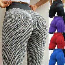 Women High Waist Yoga Pants Anti-Cellulite Leggings Bum Butt Lift Sports Gym H7
