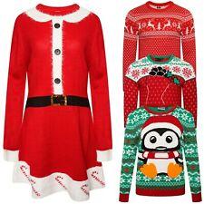 Womens Ladies Christmas Jumper Festival Unisex Tops Dress Sweater Xmas Novelty